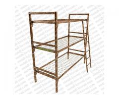 Трёхъярусные кровати металлические, Кровати оптом, Кровати железные недорого