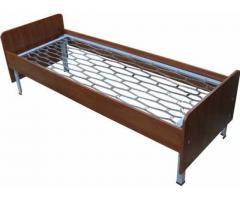 Деревянные кровати, Кровати металлические со спинками ДСП